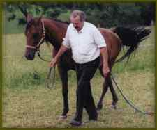 Rasga, at 23 years old, and breeder, Hans Gunther Schmidt